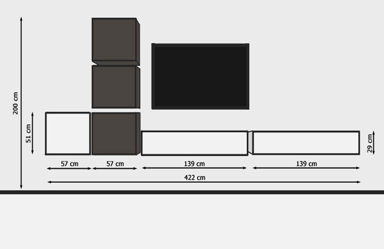 designer wohnwand fermo nativo wien moebel. Black Bedroom Furniture Sets. Home Design Ideas