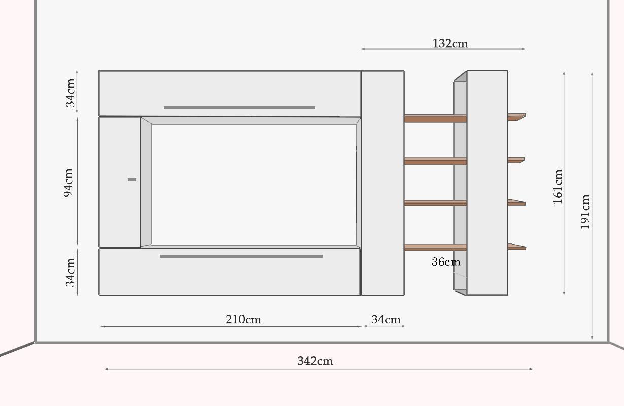 designer wohnwand cayenne nativo wien moebel. Black Bedroom Furniture Sets. Home Design Ideas