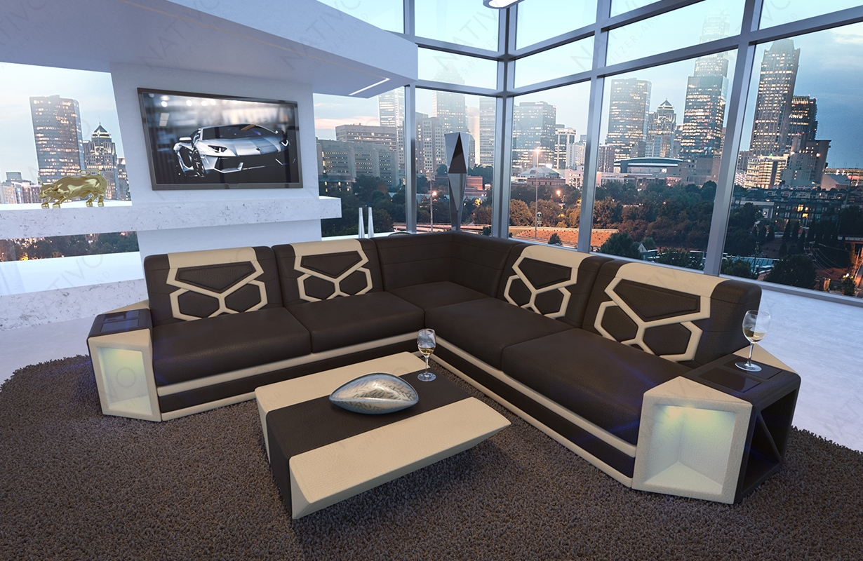 designer sofas designer sofa aventador corner mit led beleuchtung. Black Bedroom Furniture Sets. Home Design Ideas