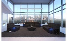Designer Sofa AVENTADOR 3+2+1 mit LED Beleuchtung