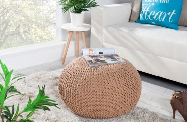 Designer Sitzhocker CUDDLE BEIGE