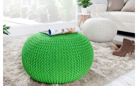 Designer Sitzhocker KNITTED LEMON