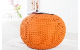 Designer Sitzhocker CUDDLE ORANGE