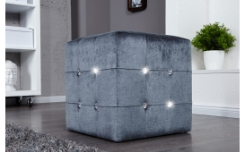 Designer Sitzhocker DIAMONDS GREY