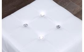 Designer Sitzhocker DIAMONDS WHITE