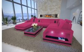 Designer Sofa  MESIA XXL mit LED Beleuchtung