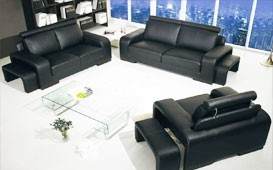 Sofa Garnitur Sofa NIZZA 3+2+1 inkl. Hocker