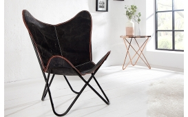 Designer Lounge Sessel ASTRA BLACK