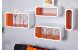 Designer Regal ORANGE 4er SET