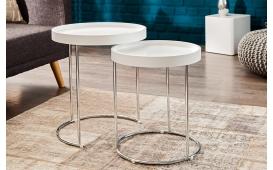 Designer Beistelltisch DARKAZ WHITE Set 2