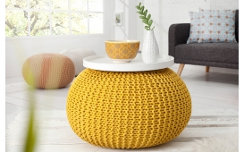 Designer Sitzhocker CUDDLE YELLOW