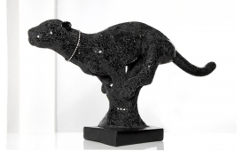Designer Skulptur PANTERA BLACK