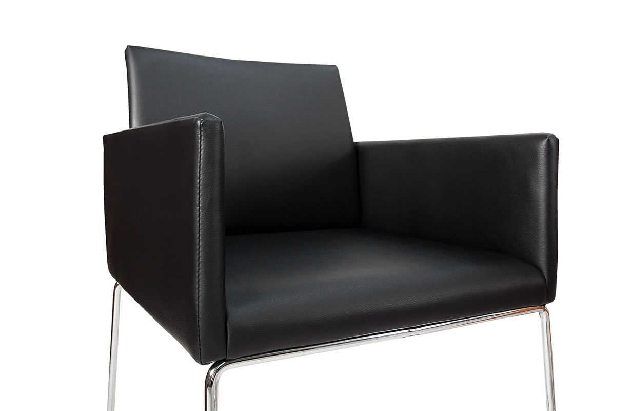 Stuhl palermo leather black von nativo designer m bel for Designer outlet stuhle