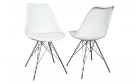 4 x Designer Stuhl SCANIA RETRO WHITE