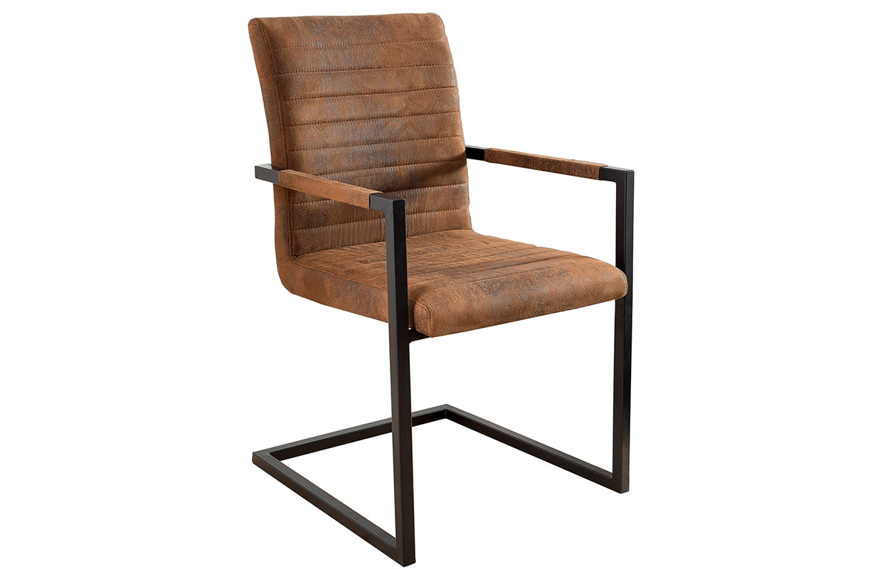 Stuhl borneo industrial brown von nativo designer m bel for Stuhl designer