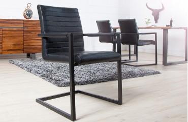Designer Stuhl BORNEO INDUSTRIAL BLACK