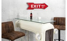 Designer Schild DIRECTION RED