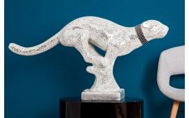 Designer Skulptur PANTERA WHITE