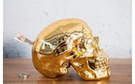 Designer Spardose SKULLY GOLD