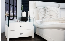 Designer Nachtkommode NEW YORK WHITE