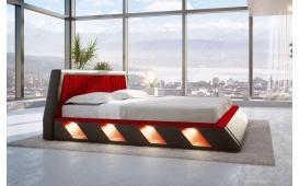 Designer Lederbett LENOX inkl. LED Beleuchtung