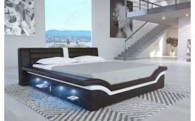 Designer Lederbett EVERLAST inkl. LED Beleuchtung