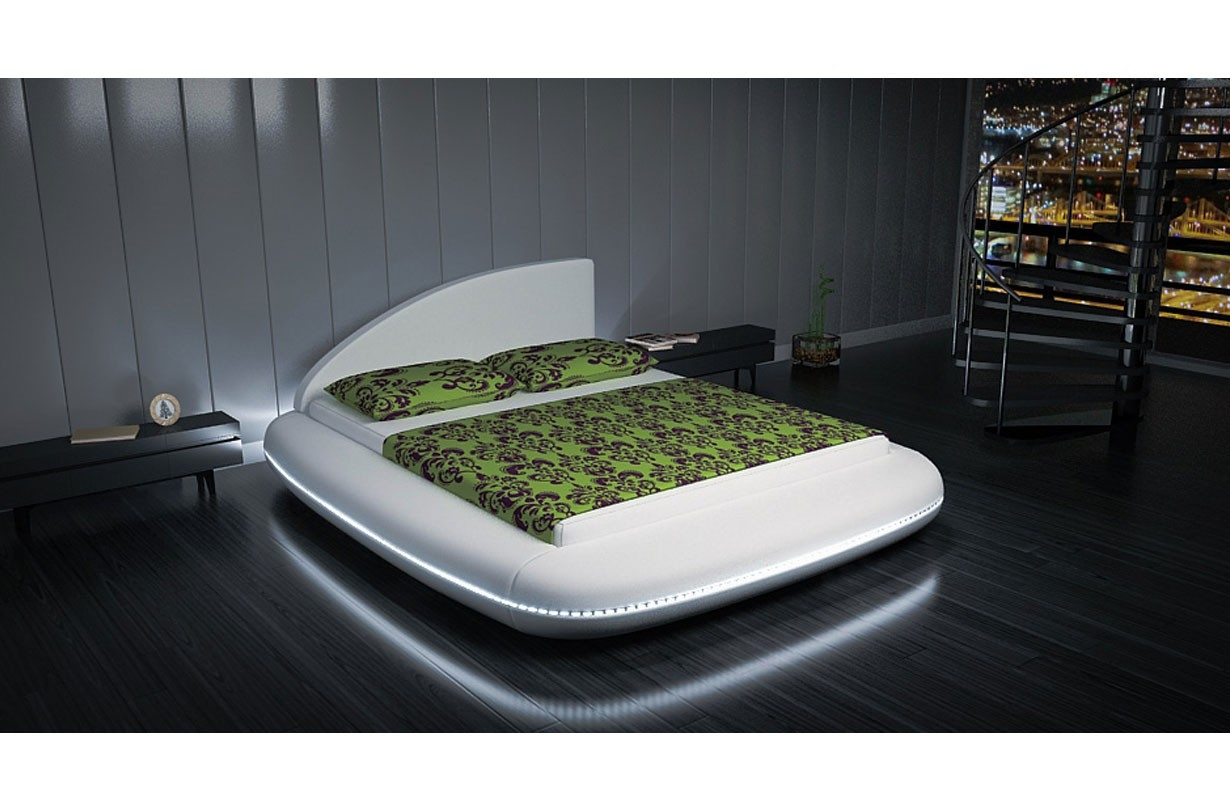 betten polsterbetten designer bett ufo mit led beleuchtung. Black Bedroom Furniture Sets. Home Design Ideas