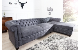 Designer Sofa CHESTERFIELD GREY