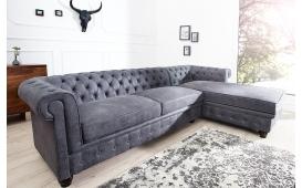 Designer Sofa CHESTERFIELD GREY