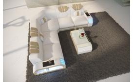 Designer Sofa CLERMONT CORNER mit LED Beleuchtung