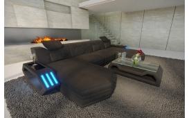 Designer Sofa CLERMONT XL U mit LED Beleuchtung