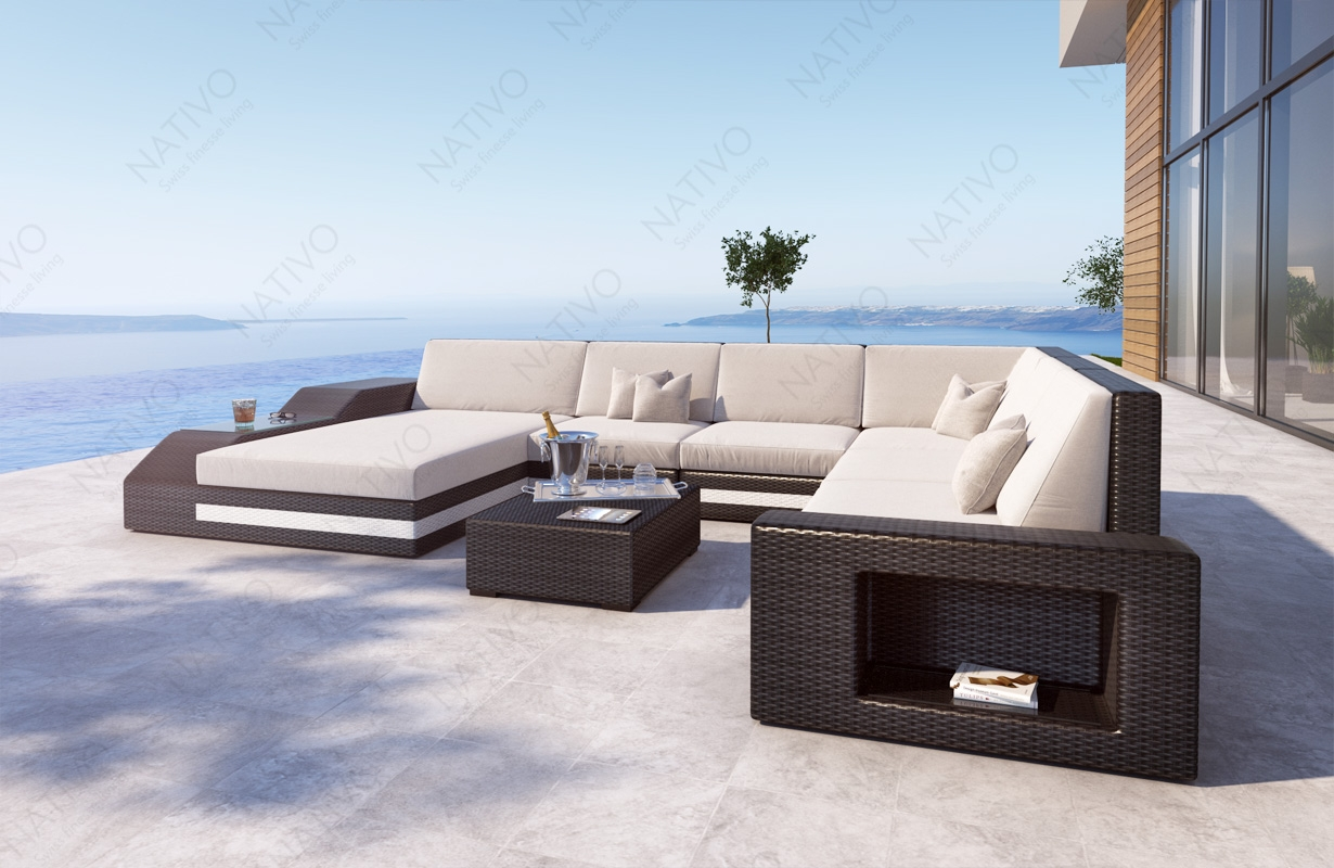 rattan sofa lounge torro xxl von nativo m bel. Black Bedroom Furniture Sets. Home Design Ideas