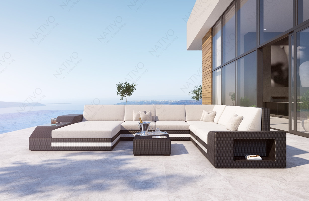 Rattan Sofa Lounge TORRO XXL von NATIVO Möbel