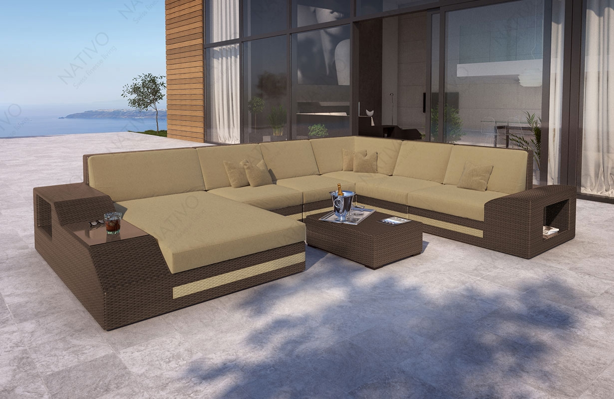 rattan sofa lounge torro xxl von nativo m bel. Black Bedroom Furniture Sets. Home Design Ideas