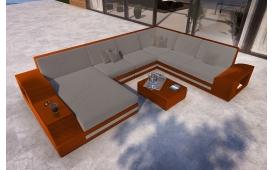 Designer Rattan Lounge Sofa TORRO XXL mit LED Licht von NATIVO Möbel Österreich