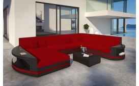 XXL Designer Rattan Lounge Sofa ATLANTIS mit LED Licht