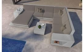 Designer Rattan Lounge Sofa CAREZZA XXL mit LED Licht von NATIVO Möbel Österreich