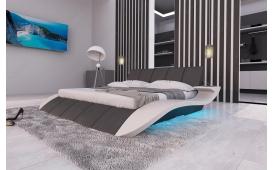 Designer Lederbett BERN V2 inkl. LED Beleuchtung & USB Anschluss von Nativo Möbel Österreich
