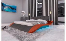 Designer Lederbett BERN V2 inkl. LED Beleuchtung & USB Anschluss