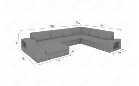 Designer Rattan Lounge Sofa TORRO XXL mit LED Licht