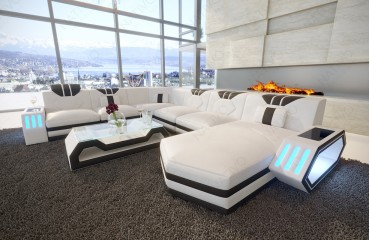 Designer Sofa CLERMONT XXL mit LED Beleuchtung von NATIVO Möbel Österreich