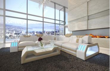Designer Sofa CLERMONT CORNER mit LED Beleuchtung von NATIVO Möbel Österreich