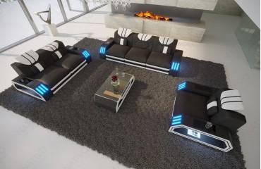 Designer Sofa CLERMONT 3+2+1 mit LED Beleuchtung von NATIVO Möbel Österreich
