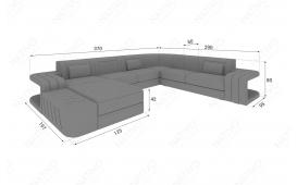 Designer Sofa SPACE XXL mit LED Beleuchtung von NATIVO Möbel Österreich