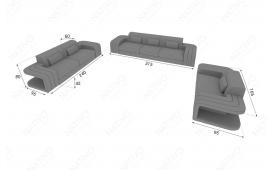 Designer Sofa SPACE 3+2+1 mit LED Beleuchtung von NATIVO Möbel Österreich