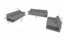 Designer Sofa MATIS 3+2+1 mit LED Beleuchtung von NATIVO Möbel Österreich