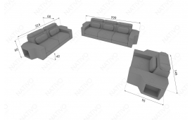Designer Sofa CESARO 3+2+1 mit LED Beleuchtung von NATIVO Möbel Österreich