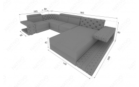 Designer Sofa IMPERIAL XL mit LED Beleuchtung von NATIVO Möbel Österreich