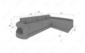 Designer Sofa ATLANTIS MINI mit LED Beleuchtung von NATIVO Möbel Österreich