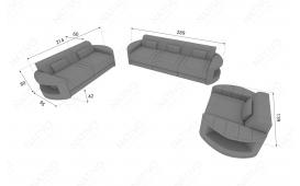 Designer Sofa ATLANTIS 3+2+1 mit LED Beleuchtung von NATIVO Möbel Österreich